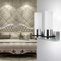 Modern 2W Dual Head Warm White LED Wall Light Sconce Hallway Hotel Lamp 85V-265V