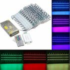 Promotion RGB SMD5050 LED Module Store Strip Light Front Window Lamp + Power Supply + Remote DC12V