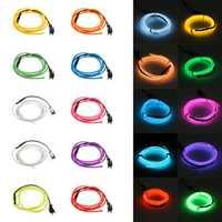 1M 10 colors 3V Flexible Neon EL Wire Light Dance Party Decor Light Battery Powered Controller