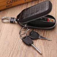 Men Genuine Leather Texture Car Key Case Key Bag Key Holder