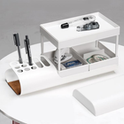 Meilleur prix Multi-functional Desktop Storage Box Creative Collection Storage Baskets for Office School Supplies