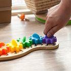 Prix de gros Kids Colorful Gear Caterpillar Toy Children Wooden Puzzle Twisting Educational Toys