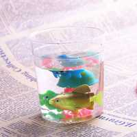 Betta Cup Jellyfish Cup Betta Fish Tank Mini Small Transparent Plastic with Lid Cup Fish Tank