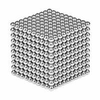 1000PCS Per Lot 5mm Magnetic Buck Ball Magnet Silver Intelligent Stress Reliever Toys Gift