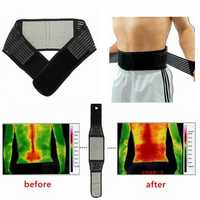 Tourmaline Magnetic Therapy Lower Back Waist Support Belt Self Heating Backache Pain Relief