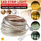 Meilleurs prix 2/4/6/8/10/15M AC220V 5050 LED Strip Rope Light Waterproof Garden Kitchen Home Decoration Lamp With EU Plug