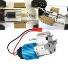 Meilleurs prix 1PC Metal Transfer Gear Box W/ 370 Motor for WPL B-16 B-24 B-36 C24 JJRC Q60 Q61 4WD 6WD RC Car