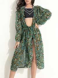 Plus Size Net Bikini Backless High Waisted Cover-Up Swimsuit