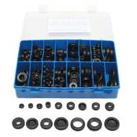 250Pcs Rubber Grommet Seal Hole Plug Set Electrical Wire Gasket Assortment Kit