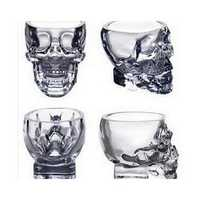 100ml Clear Head Glass Cup Clear Skull Vodka Whiskey Cup Creative Transparent Bar Glass