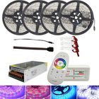 Meilleur prix 4*5M SMD5050 Waterproof LED Strip Light + 2.4G RF Remote Controller + Lighting Transformer Kit DC12V