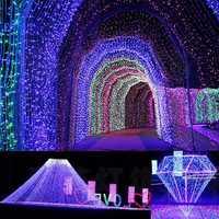 220V EU Christmas Tree LED Light String Starry Sky Home Curtain Decor Celebration Festival Wedding