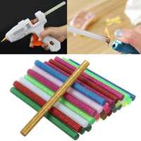 30Pcs Multicolor Glitter Hot Melt Glue Sticks For Craft Handicraft Art