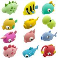 An-ti Bite Animal Shaped Cable Protector Winder Pet Dog Phone Charger USB Line Accessory Prank Toys Funny