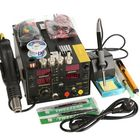 Meilleur prix Saike 220V 909D+ Rework Soldering Station + Hot Air Nozzle + DC Power Supply 3 in 1 Multi-function Set with full Accessories