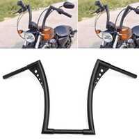 16 inch Rise Ape Hangers Bike Handlebar Black For Harley Softail FLST FXST Sportster XL