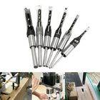 Offres Flash 6pcs 6-16mm Woodworking Square Hole Drill Bit Set Mortising Chisel Auger Drill 6/8/9.5/12.7/14/16mm