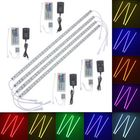 Meilleurs prix 4pcs 50cm 5050 RGB LED Rigid Strip Light Fish Tank Aquarium Lamp TV Background Lighting