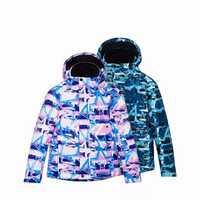 7TH Children Ski Suit Star Print Outdoor Sport Winter Thick Coats Waterproof Boy Girl Warm Jack