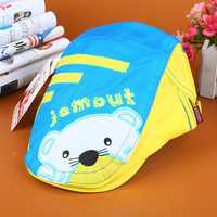 Baby Boys Girls Summer Thin Breathable Berets Hat Quick Dry Bear Pattern Visor Peaked Cap