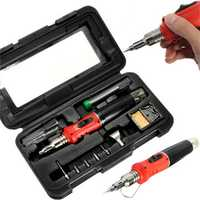 Raitool® HS-1115K 10 in 1 Welding Kit Blow Torch Professional Butane Gas Solder Iron Soldering Tools
