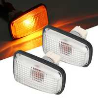 Side Marker Lights Repeater Lamp 12V 55W Amber 2Pcs for Peugeot 106 306 406 806 632567