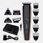 Meilleurs prix KEMEI KM526 Multi-Function Electric Hair Trimmer USB Rechargeable Nose Hair Beard Clipper Cutter