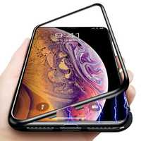 Bakeey Protective Case for iPhone XS Max Magnetic Adsorption Metal Bumper + 9H Tempered Glass Back Cover