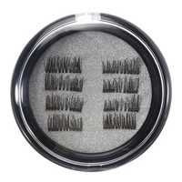 8Pcs/2 Pairs Dual Magnetic 3D False Eyelashes Long Natural Eyelashes Extension
