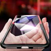 Bakeey™ Tempered Glass Back Cover TPU Frame Protective Case for iPhone X/7/7 Plus/8/8 Plus