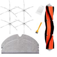 9PCS Replacements for Roborock Vacuum Cleaner Main Brush*1 Side Brushes*4 White Brush*1 Yellow Brush*1 Rags*2