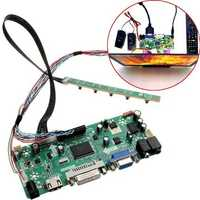 LCD Controller Board 40P 8-bit HD DVI VGA Audio PC Module Kit For B156XW02 15.6 Inch Display