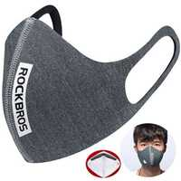 ROCKBROS Cycling Ear Mounted Masks Motorcycle Running Anti Haze PM2.5 Bicycle Mask Windproof Mask