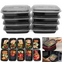 10Pcs 24oz Meal Prep Food Containers With Lids Reusable Microwavable Plastic BPA Free Lunch Box