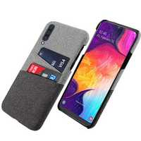 Bakeey Fabric Card Holder Shockproof Protective Case For Samsung Galaxy A70 2019