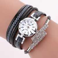 DUOYA D257 Shining Crystal Flower Dial Women Bracelet Watch