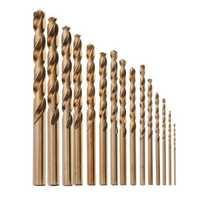 Drillpro 15pcs 1.5-10mm HSS M35 Cobalt Twist Drill Bit for Metal Stainless Steel Aluminium Copper