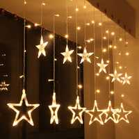KCASA 2.5M 110-220V LED Star String Lights LED Fairy Light for Festival Christmas Curtain Decoration