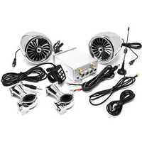 600W 4Ω Amplifier Blue Tooth Motorcycle ATV Stereo Speaker System AUX Radio