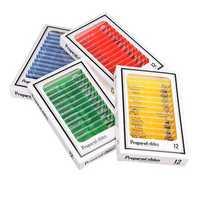 48Pcs/Set Four Colors Plastic Board Bio Slices Children's Microscope Accessories