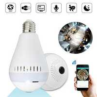 E27 360° Panoramic Wireless Hidden WIFI 960P HD 130W Camera LED Light Bulb Security Lamp AC220V