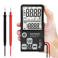 MUSTOOL MT77 Large Screen Smart Digital Multimeter Voltage Tester 3-Line Display Fully Auto-Range True RMS 6000 Counts DMM with Analog Bargraph