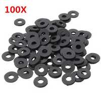 Suleve™ M3NW1 Black Flat Nylon Washer OD 8mm for M3 Screws 100pcs
