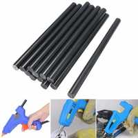 12Pcs 11mm x 190mm Hot Melt Glue Sticks Crafting Models Black Plastic
