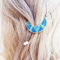 Sweet Shiny Moon Beads Tassels Hair Clip Hair Accessories