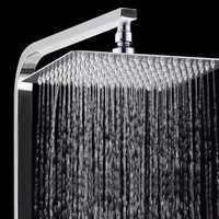 KCASA KC-SH515 304 Stainless Steel Square &Round Shower Head Pressurize Bathroom Top Spray Head