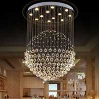 LED Modern Silver Chrome Acrylic Crystal Ceiling Light Pendant Light Chandelier Home Decor