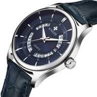 WWOOR 8863 Business Style Leather Strap Men Wrist Watch