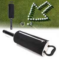 Portable Golf Shag Bag 60 Balls Convenient Hop-pocket Pick Up Bag Ball Storage