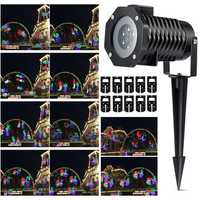10 Pattern LED Laser Landscape Projector Light Halloween Christmas Party UK EU US AU Plug